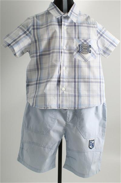 Immagine di Completo azzurro da bimbo  con camicia
