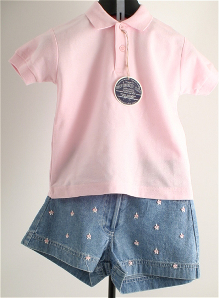 Immagine di Completo da bimba jeans e rosa