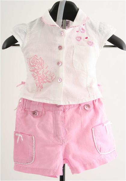 Immagine di Completo da Bimba rosa e bianco