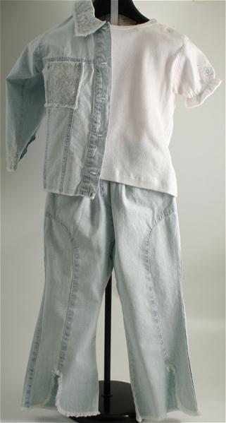 Immagine di Completo pantalone jeans da bimba