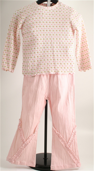 Immagine di Completo pantalone rosa da bimba