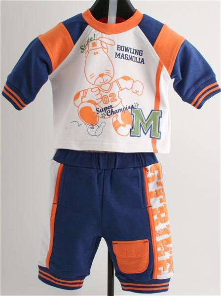 Immagine di Tuta Jogging Bimbo blu e arancio