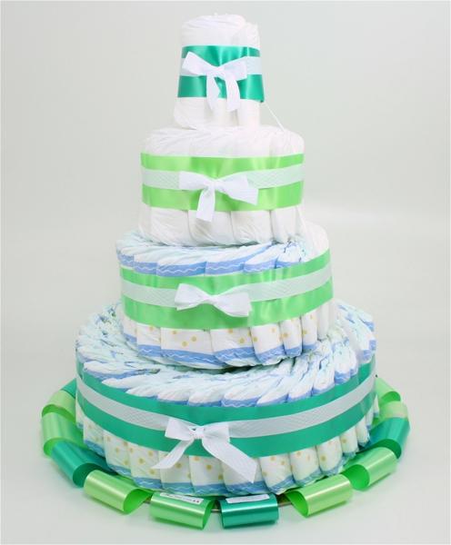 Immagine di Torta di Pannolini 4 PIANI Verde
