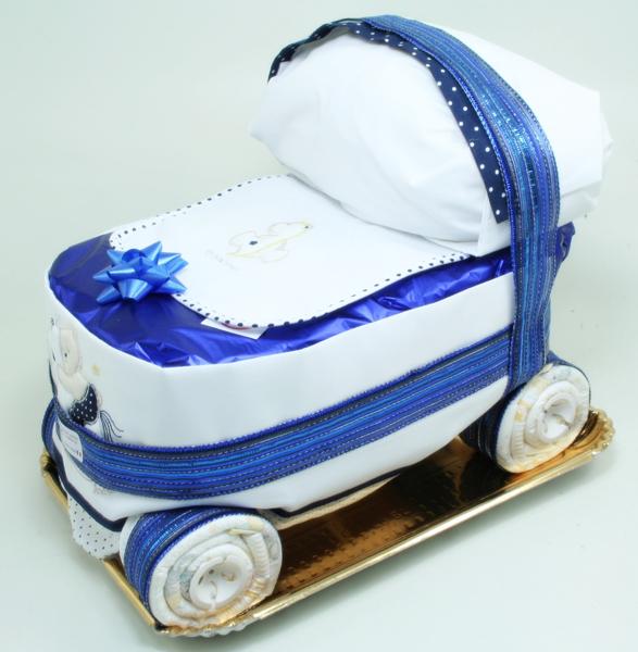 Immagine di Torta di Pannolini Carrozzina Blu