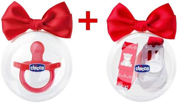 Immagine di Gommotto Chicco Rosso Limited Edition + Chicco Clip Con Catenella Natale Limited Edition