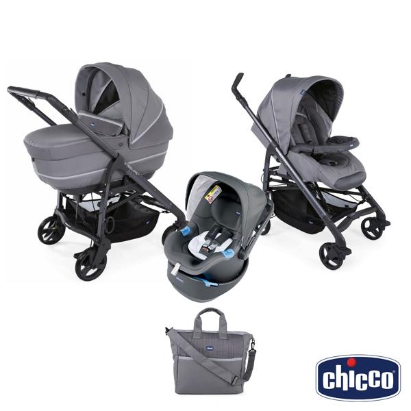 Immagine di Chicco Trio Love Up Cool Grey con Sistema Antiabbandono integrato